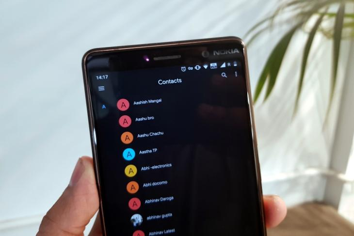 google contacts dark mode is here