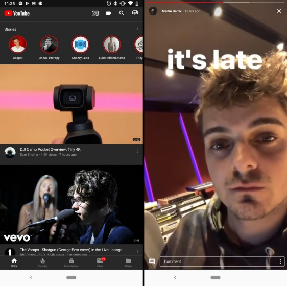 youtube stories expansion