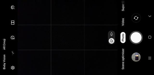 One UI camera interface