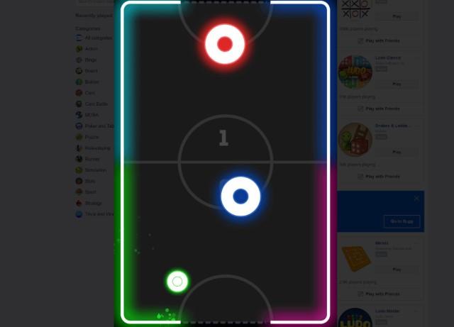 14. Glow Hockey
