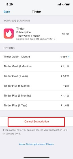 3 How to Cancel Tinder Gold Subscription on iPhone