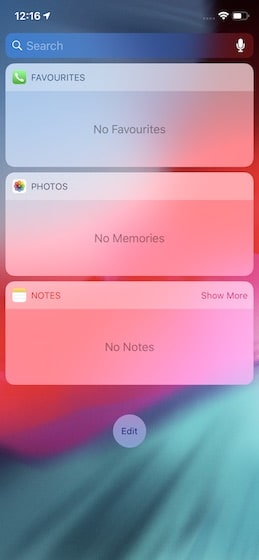 Adding Widgets in iPhone 1