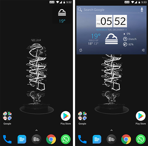 Android Widgets 1Weather