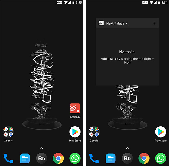 Android Widgets Todoist