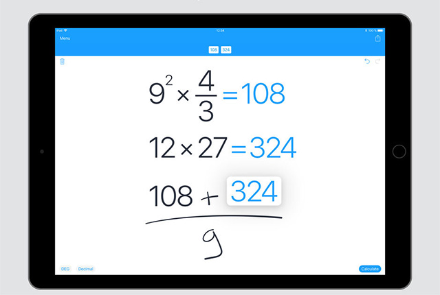 MyScript Calculator - Best Apple Pencil Apps
