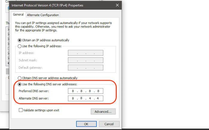 DNS_Probe_Finished_Nxdomain auf einem Windows00005-Edige