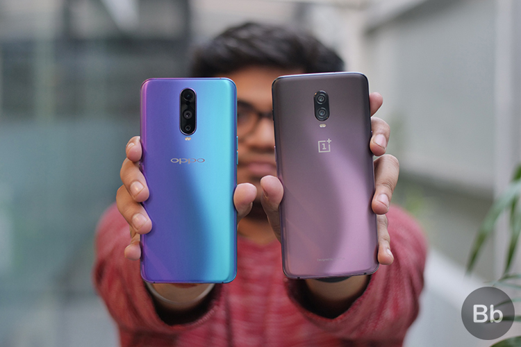 oppo r17 pro vs OnePlus 6T thunder purple