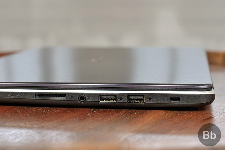 vivobook x505za review - ports - right