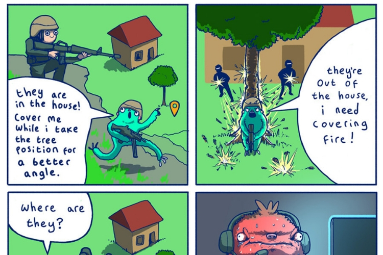 Streamer Sloth' Is a Hilarious Comic About PUBG That's Worth