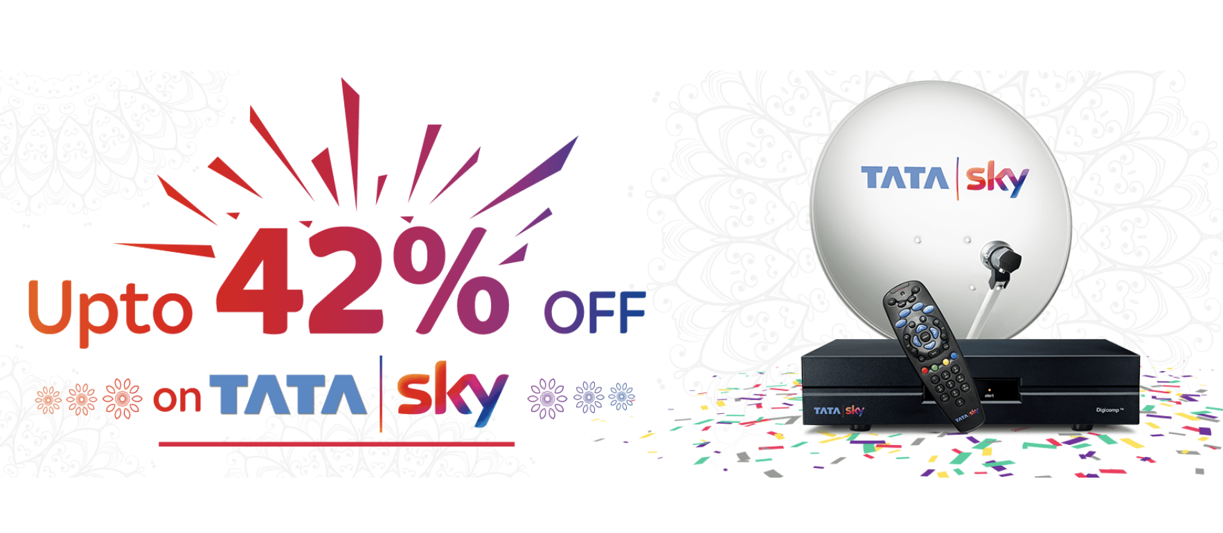 Tata Sky Offers up to 42% Discount to New Users