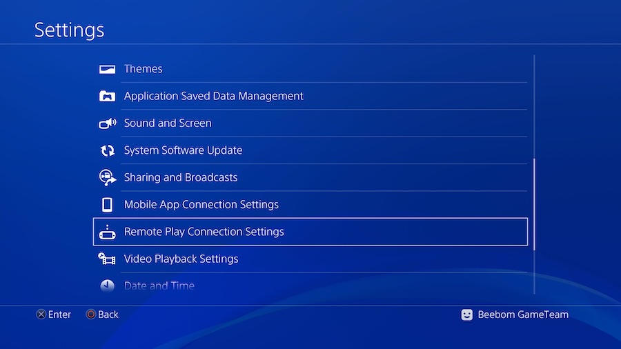 Setting Up PS4 for PS4 Remote Play00002