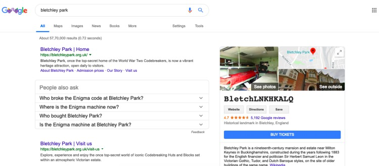 bletchley park google search