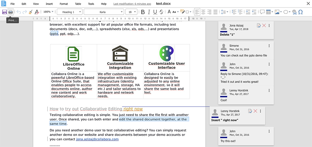 Google Docs Alternatives collabora