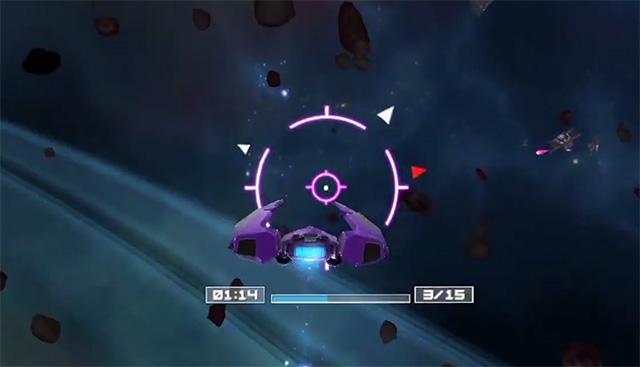 скриншот сражения в глубоком космосе