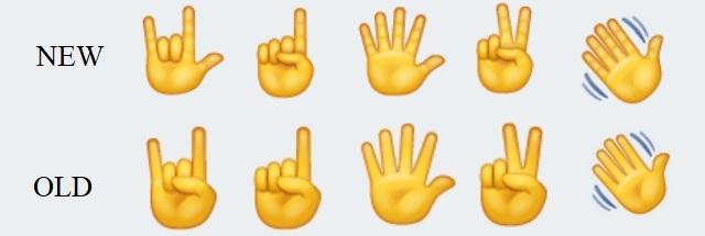WhatsApp new redesigned emojis