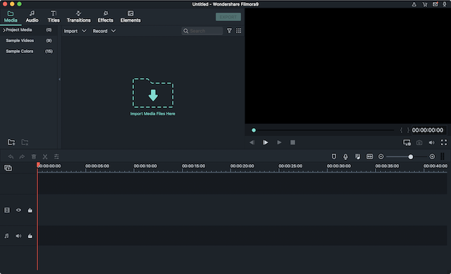 filmora9 user interface screenshot