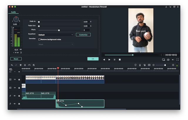 filmora advanced audio editing screenshot