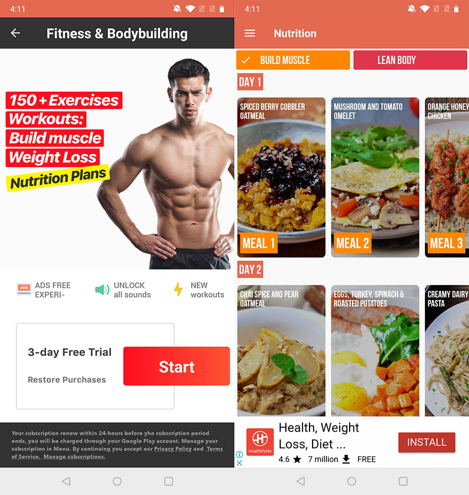 Best Workout Apps fitness bodybuilding