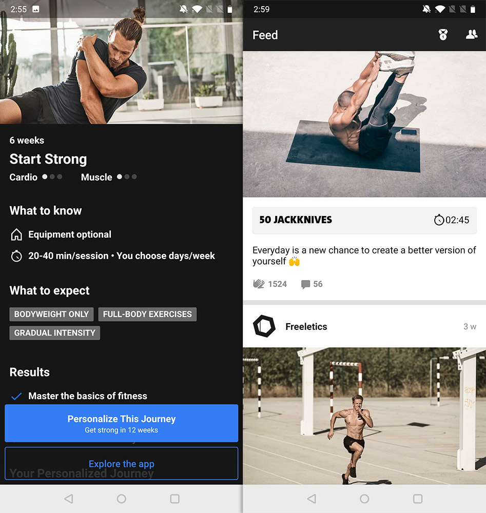 Best Workout Apps freeletics