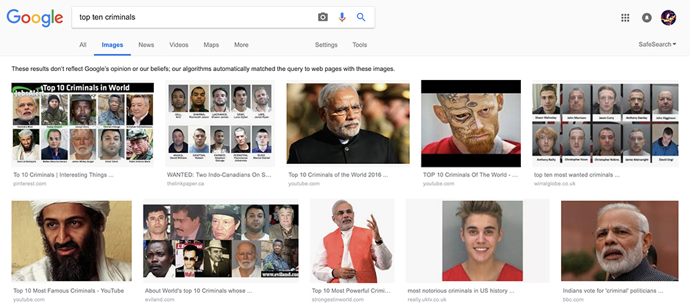 Google search donald trump idiot narendra modi criminal