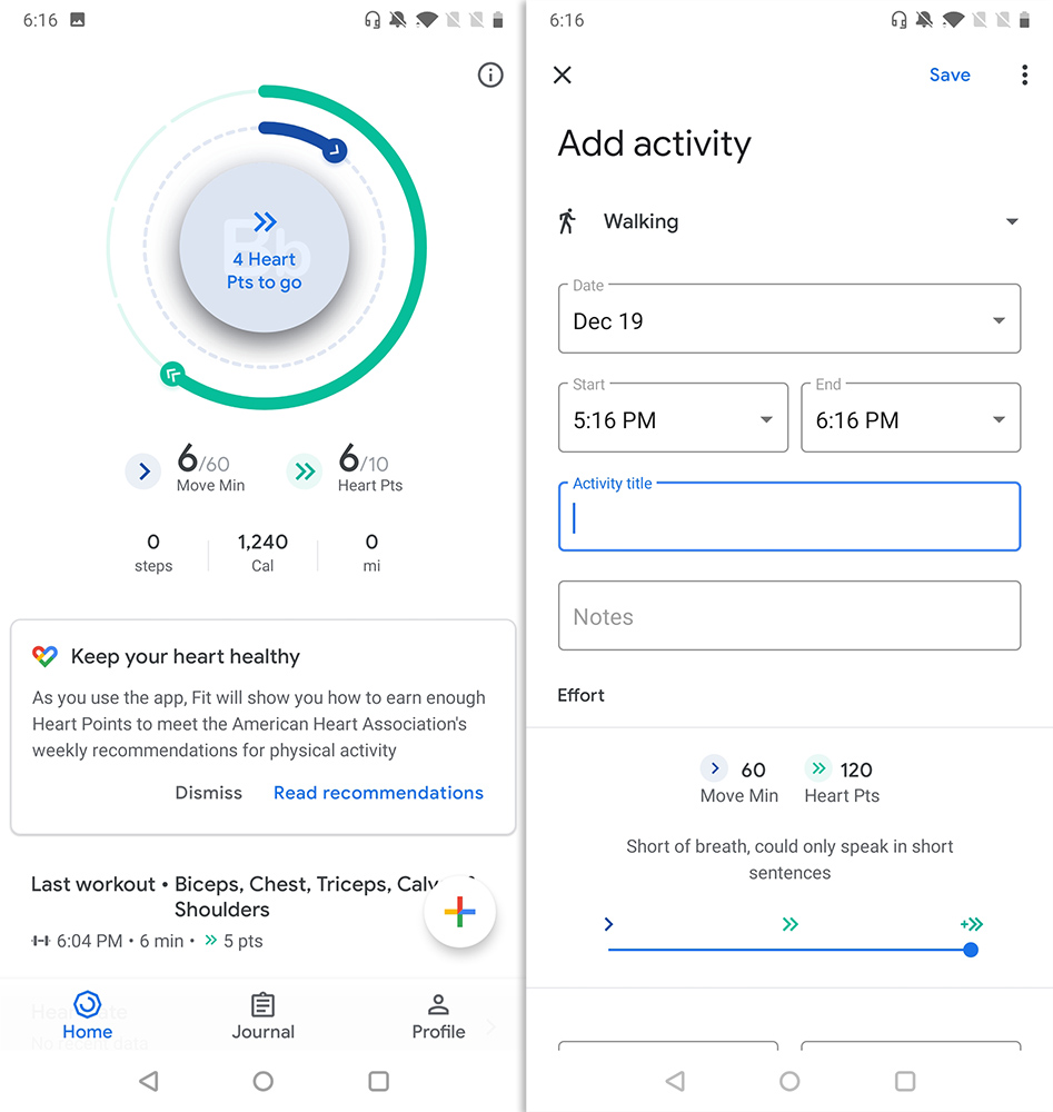 Best Workout Apps google fit