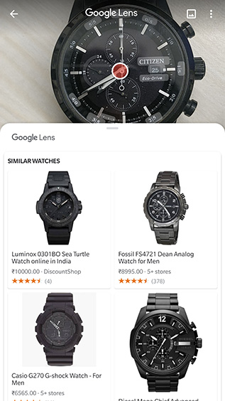 google lens shopping feature