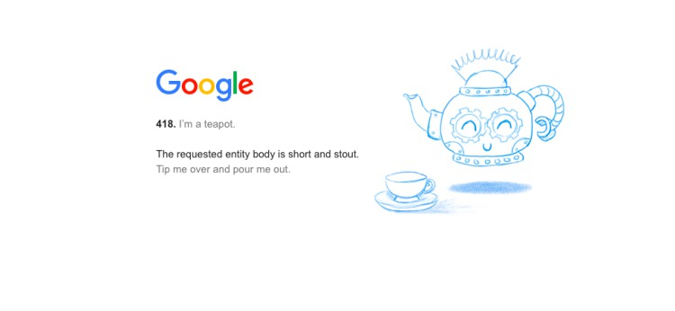 google teapot easter egg