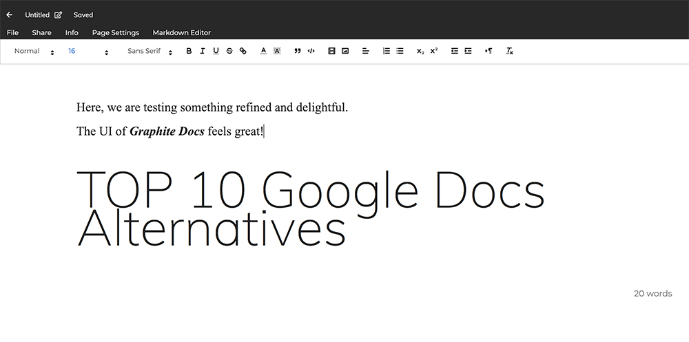 Google Docs Alternatives graphite docs blockchain