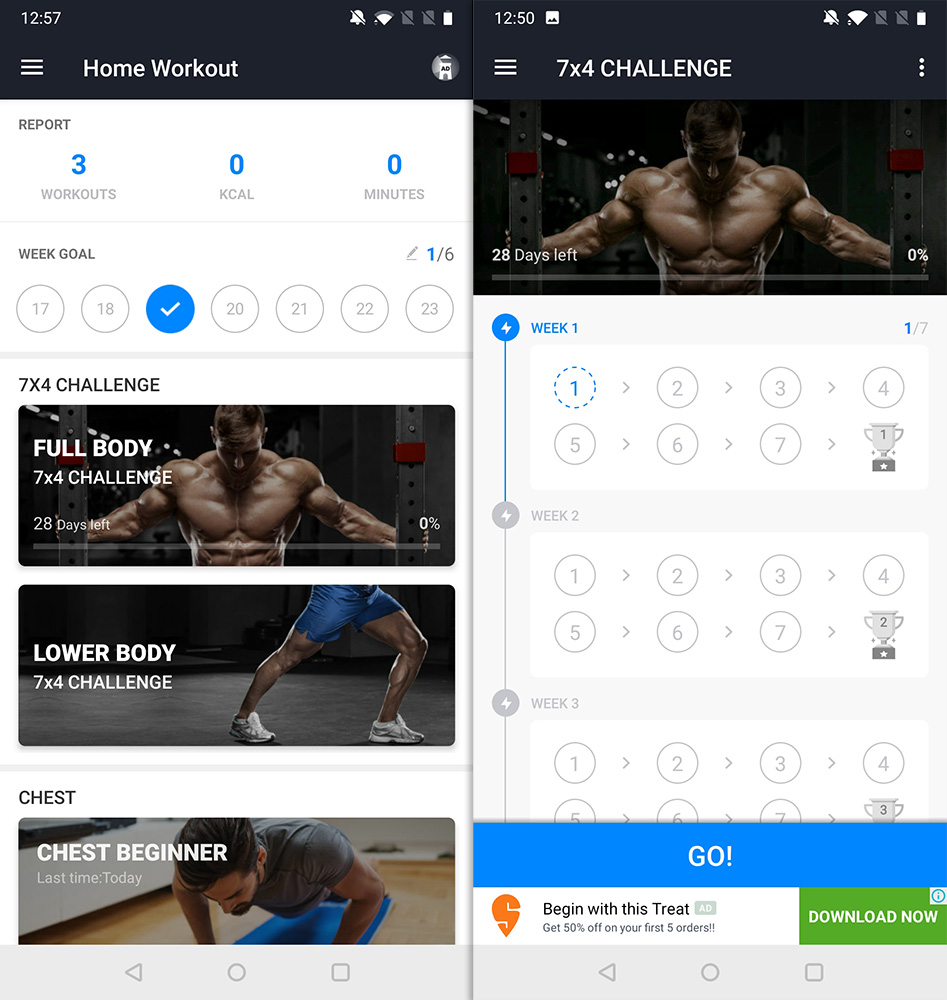 Best Workout Apps home workout