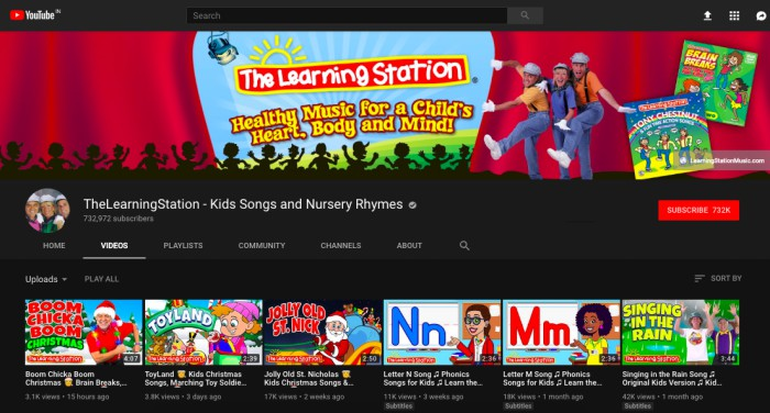 learning station youtube