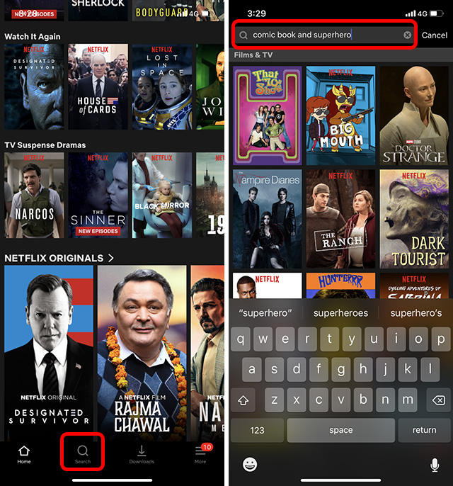 Secret Netflix Codes: Search in Netflix Apps