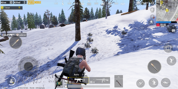 PUBG Mobile no footsteps in snow