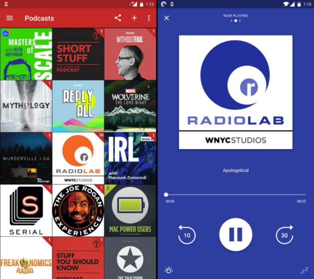 pocket casts best android podcast app