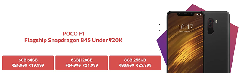 Get Up To Rs 2,000 Discount On Poco F1 On 6-8 December At Flipkart, Mi.com