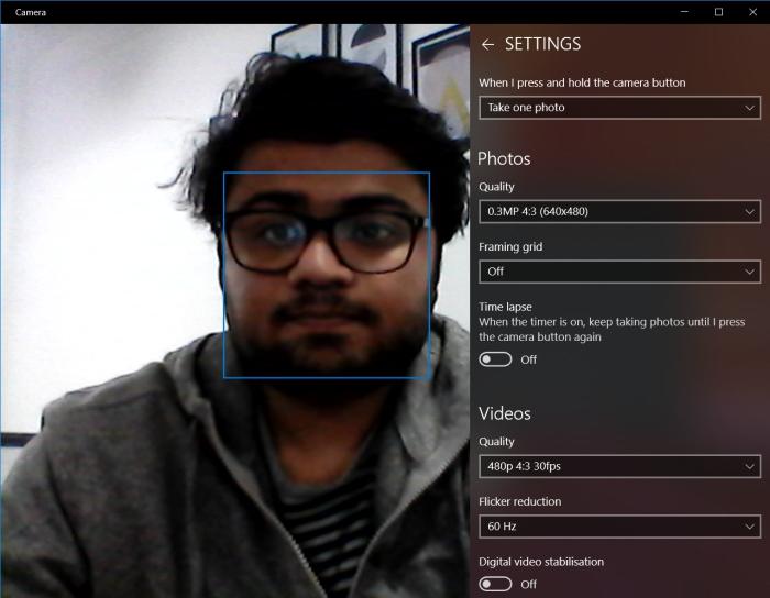 VivoBook X505 webcam interface