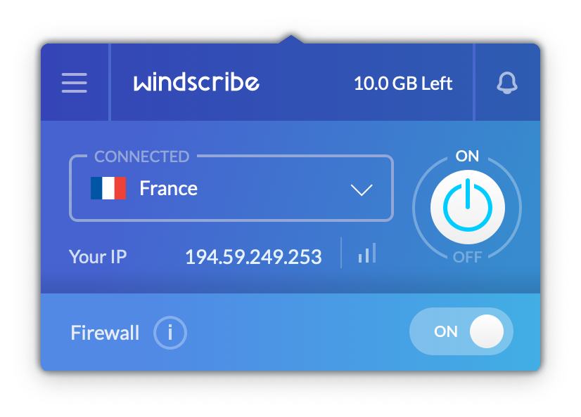 windscribe screenshot
