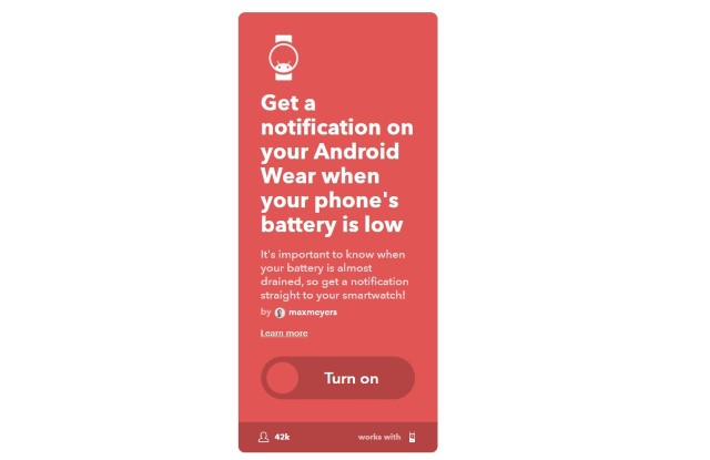 1. Get Low Phone Battery Notification
