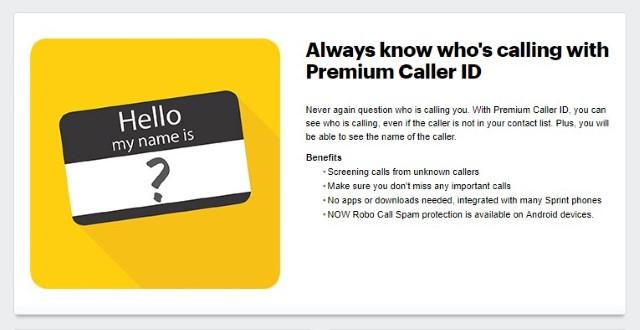 3. Sprint Premium Caller ID