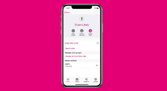 4. T-Mobile Call Blokcing service