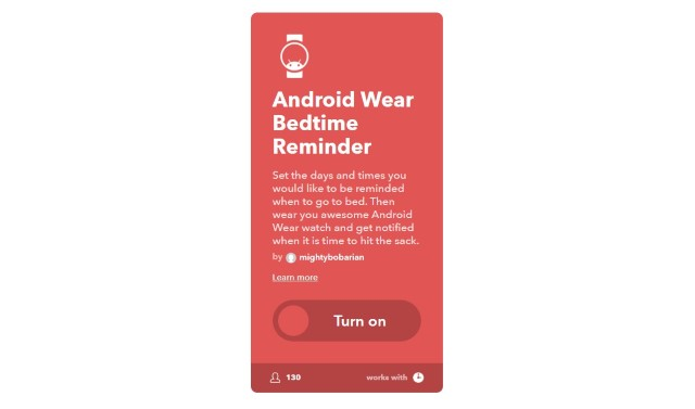 5. Android Wear Bedtime Reminder