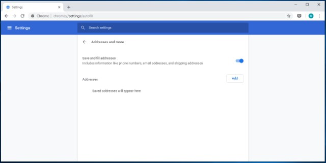 6. Manage Addresses and Other Autofill Information