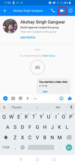 6. Start a Group Video Call