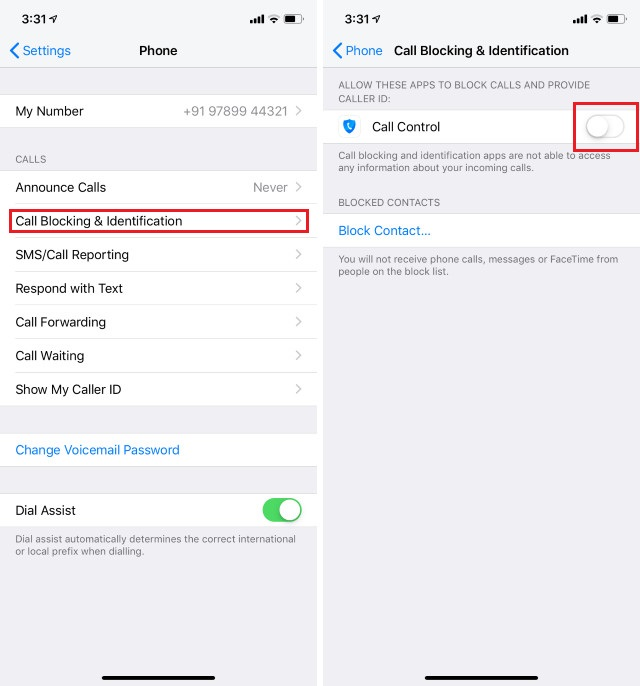 7. Using Call Blocking Service