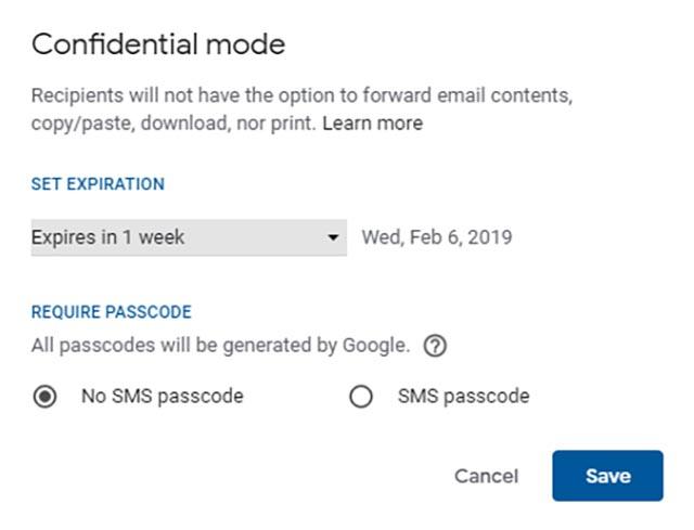 الوضع السري لـ Gmail