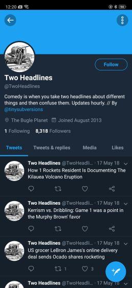 8. @TwoHeadlines