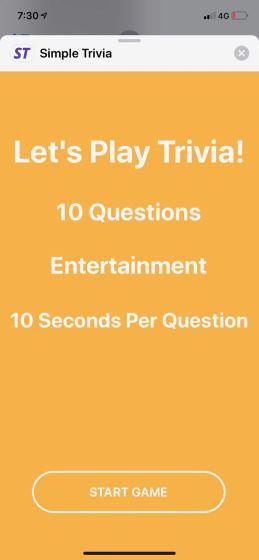 Simple Trivia
