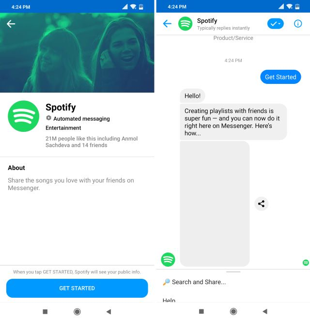 Spotify chatbot