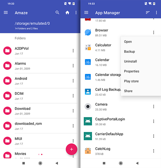 Open Source Android Apps amaze file managet