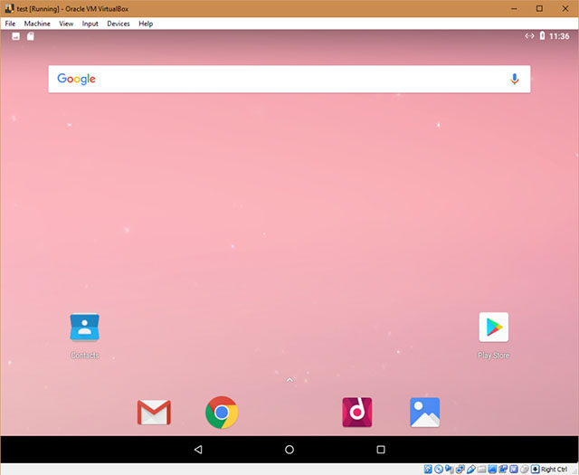 android x86 screenshot