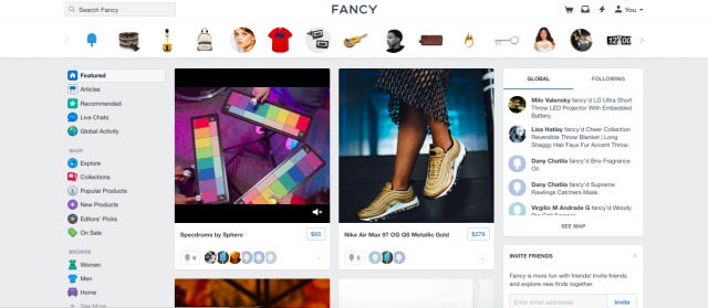 fancy - pinterest like e-commerce store